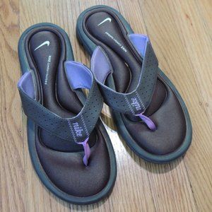 Nike Comfort Footbed Flip Flops Sandals Purple 9